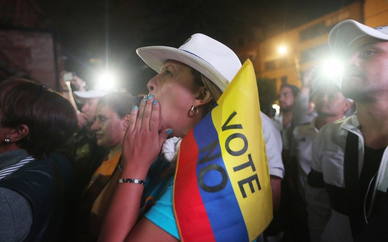 Image: Colombians Vote 'No' on Peace Deal