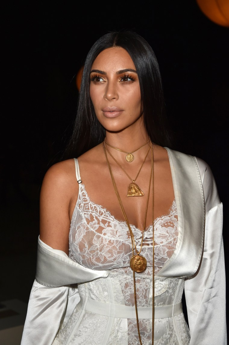 Image: Kim Kardashian attends the Givenchy show in Paris
