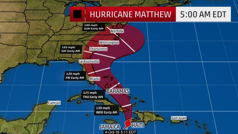Image: Hurricane Matthew map