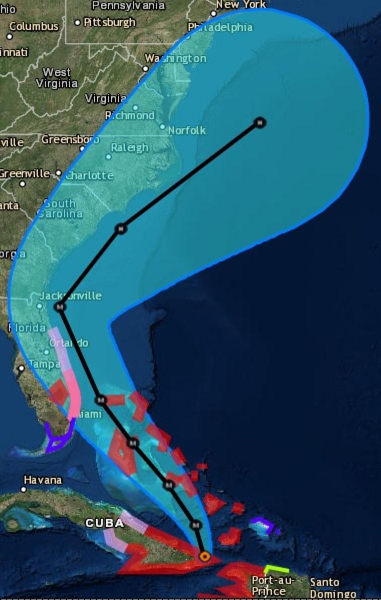 IMAGE: Hurricane Matthew projection