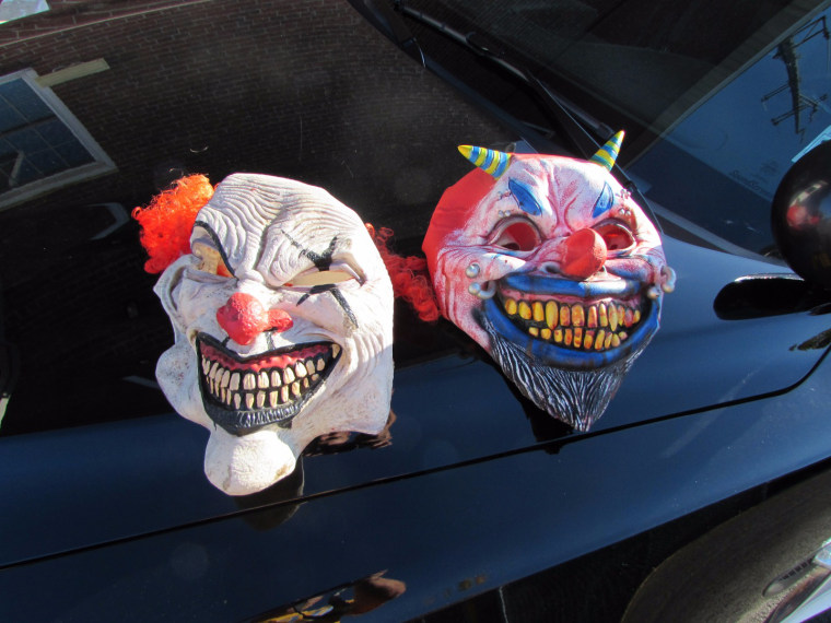 These masks were found after police in in Fair Lawn, New Jersey, a Toyota Tundra that had reportedly been following another car early Wednesday, police said.