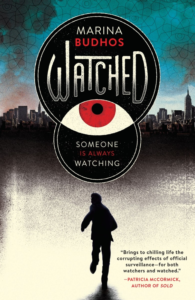 """The cover art for """"Watched,"""" a new book by Marina Budhos."""