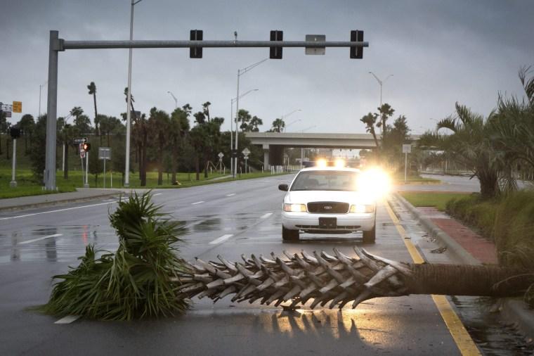 Image:  Hurricane Matthew in Miamii, Florida