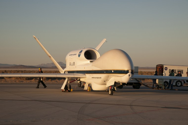 NASA's Global Hawk is prepared for deployment to Florida to study Hurricane Matthew.