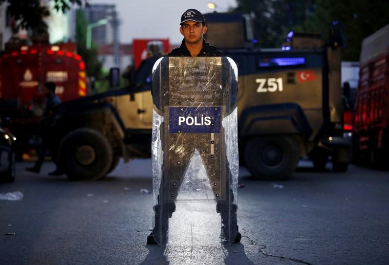 Image: Turkish police officer