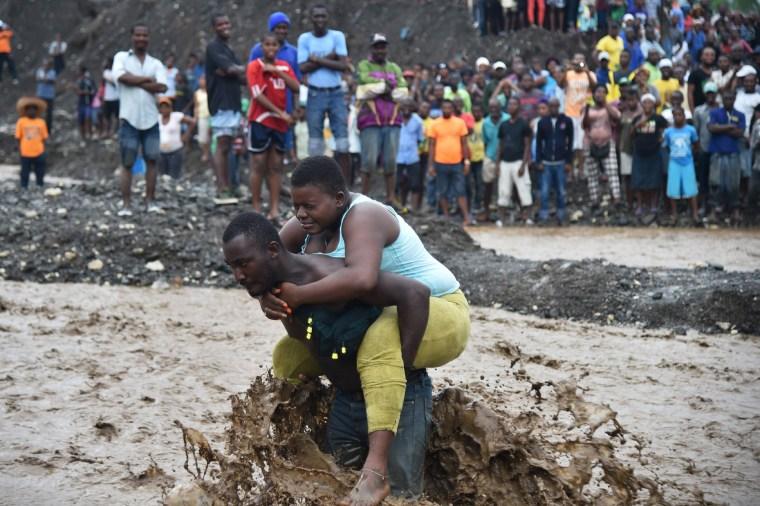Image: TOPSHOT-HAITI-WEATHER-HURRICANE MATTHEW