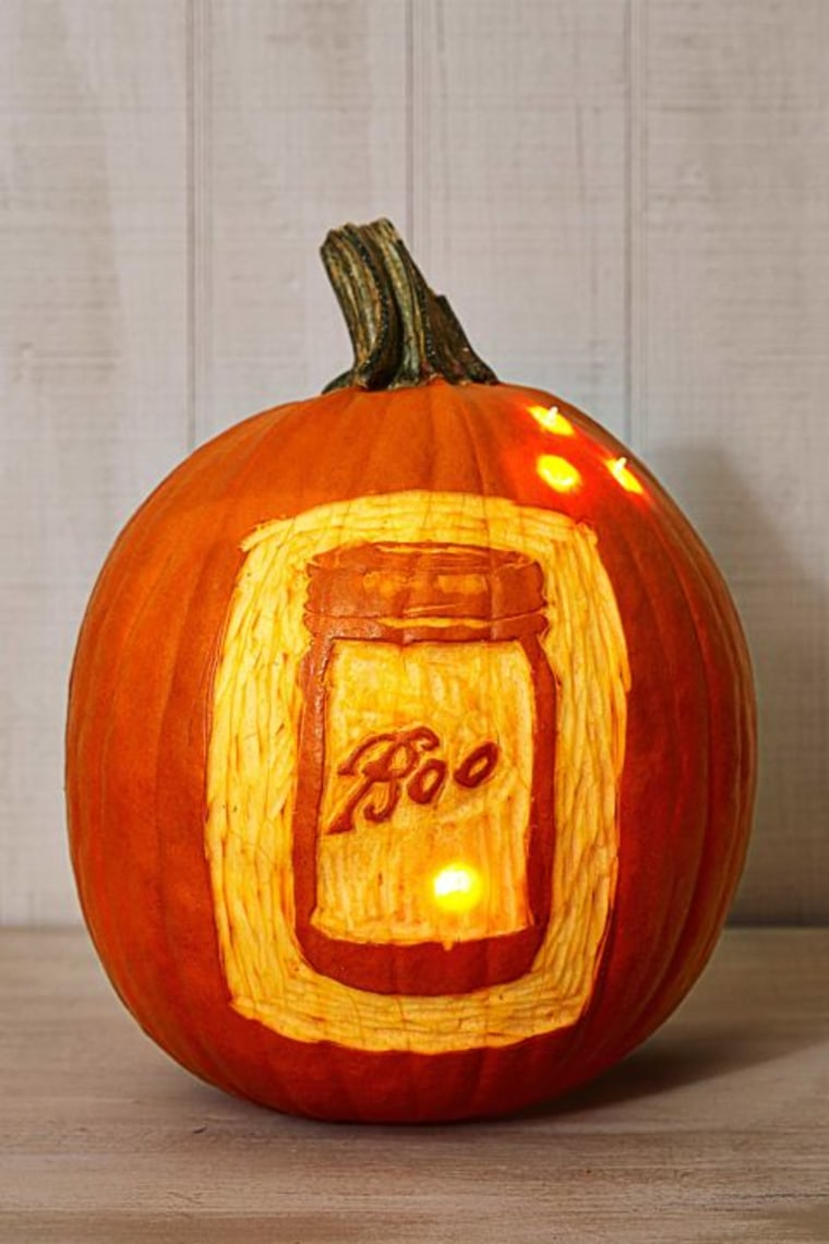 Boo jar pumpkin