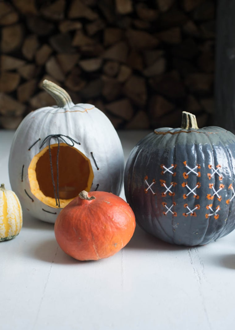 Embroidered pumpkin