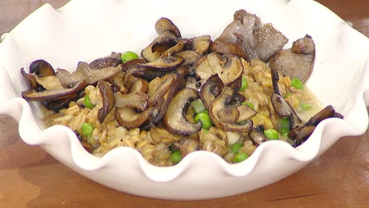 Mushroom Pea Farrotto