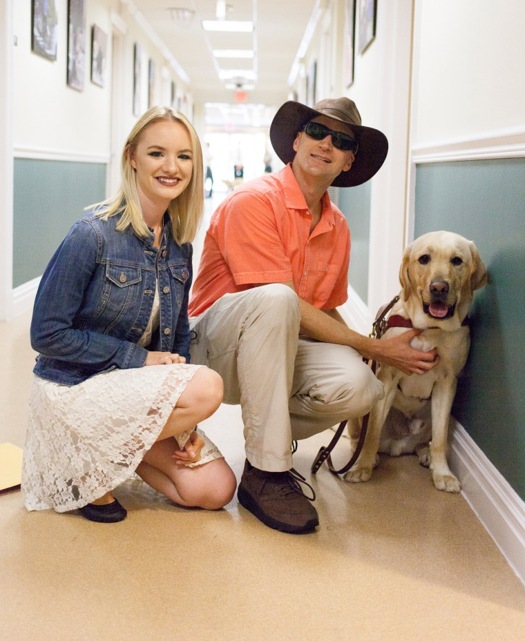 TODAY's first puppy with a purpose, Wrangler, graduates to become a full-time guide dog