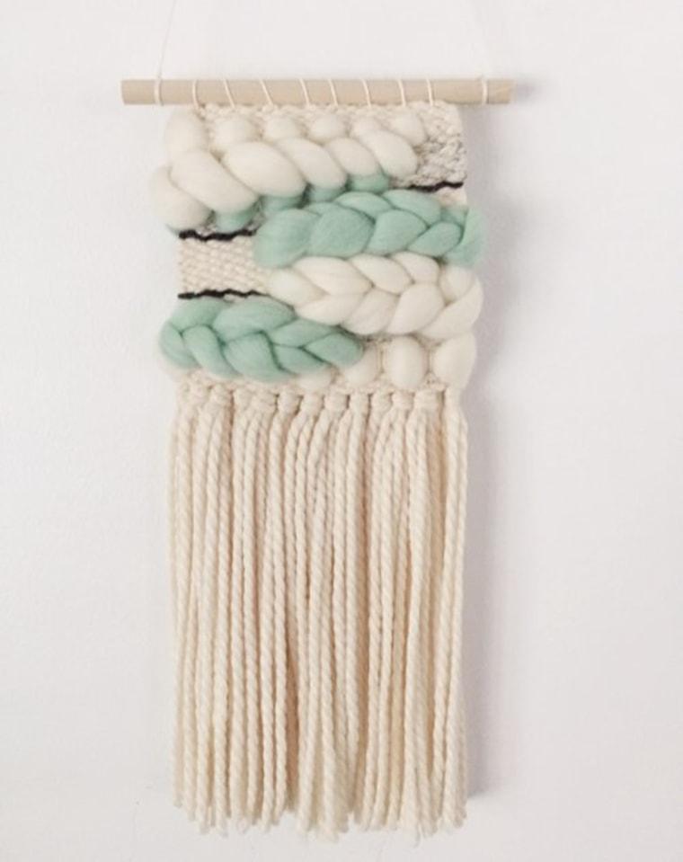 Mini mint tapestry