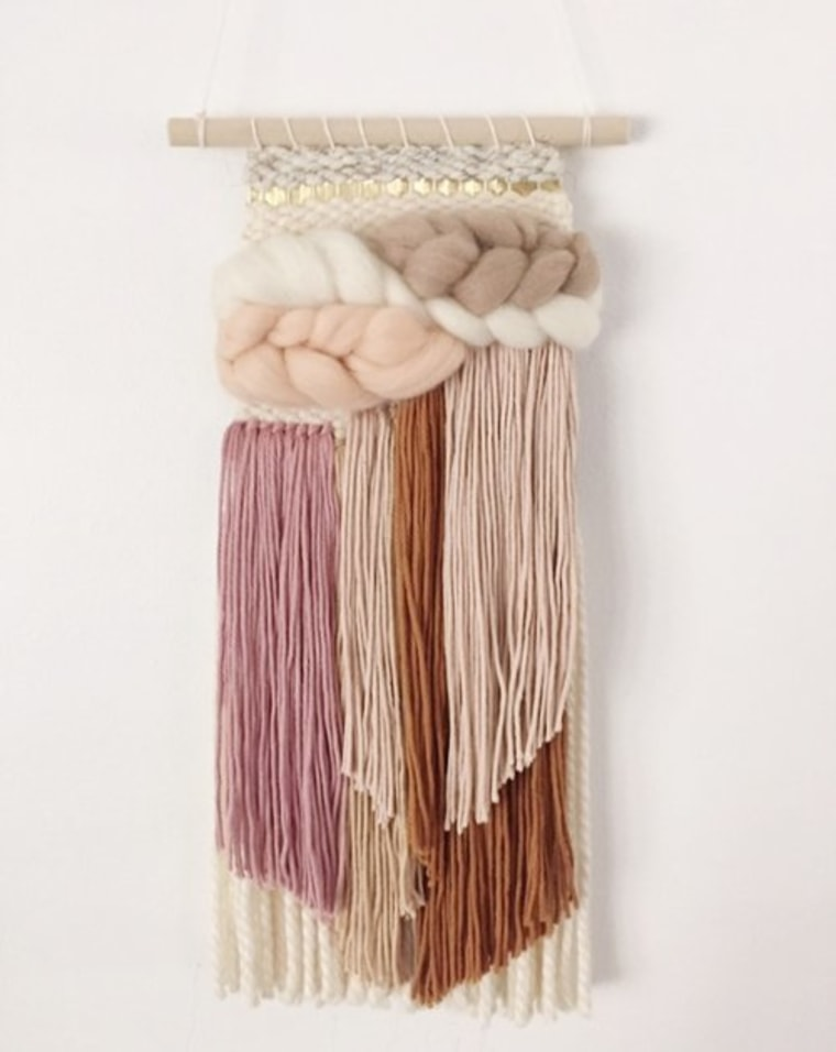 Mini earth tones weaving tapestry