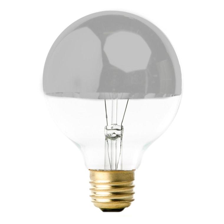 Silver Mirrored Globe Bulb
