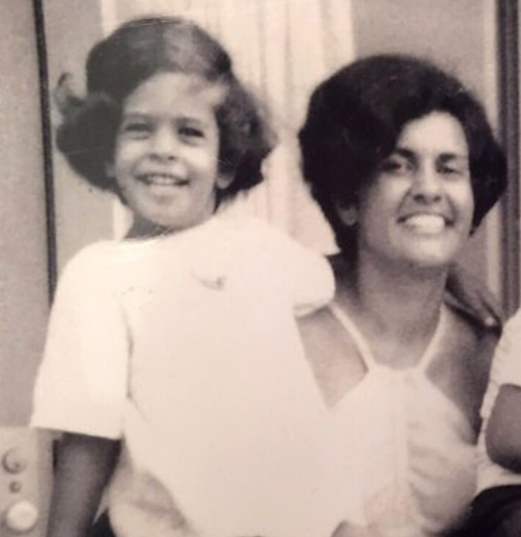 Hoda with her mom
