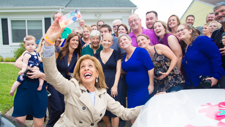 Hoda surprises woman battling cancer