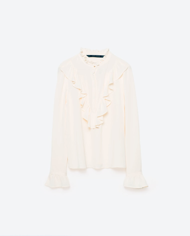 Zara frilled blouse