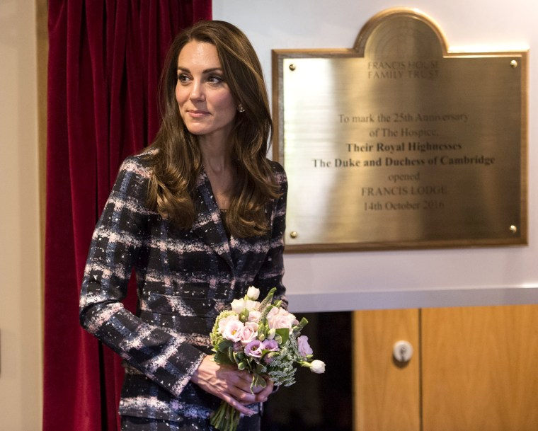 Catherine, Duchess of Cambridge at Francis House
