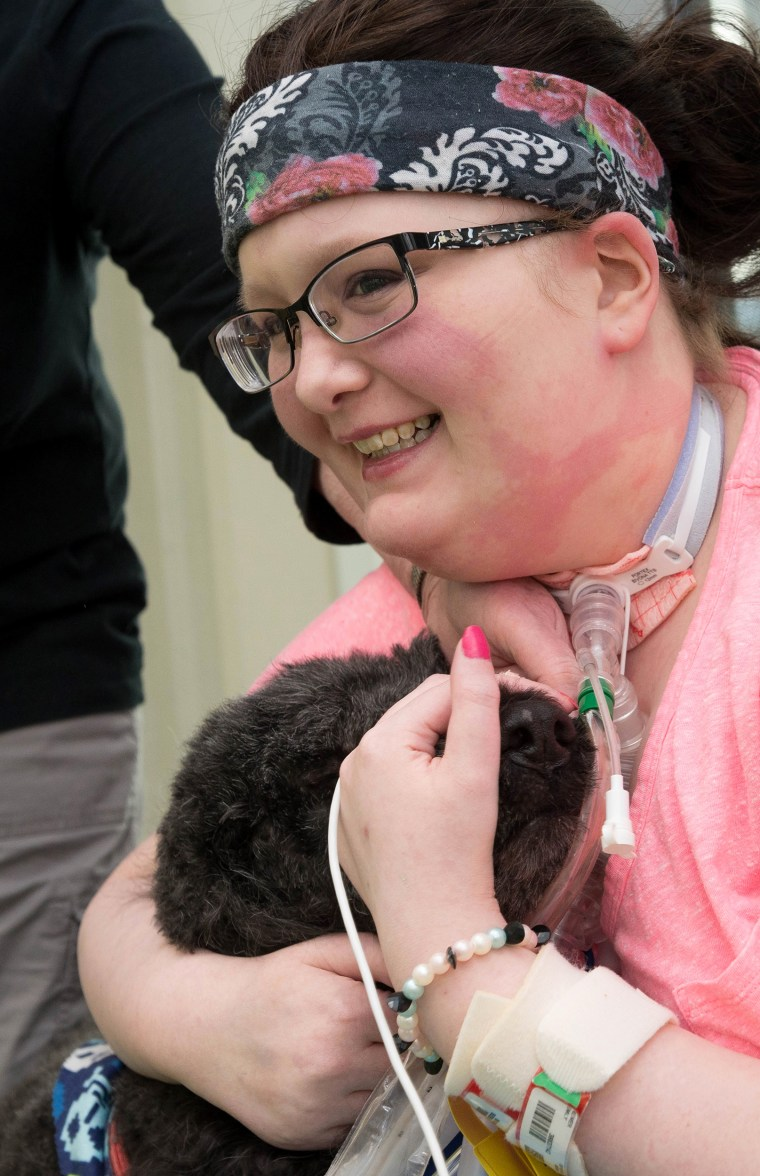 Teen With Blood Disorder Reunites With Family Dogs After Spending a Year in Hospital