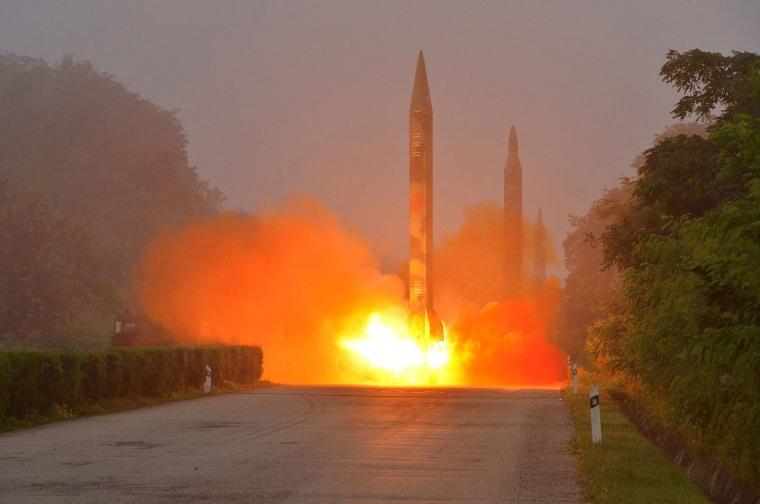 Image: NKOREA-MILITARY-MISSILES