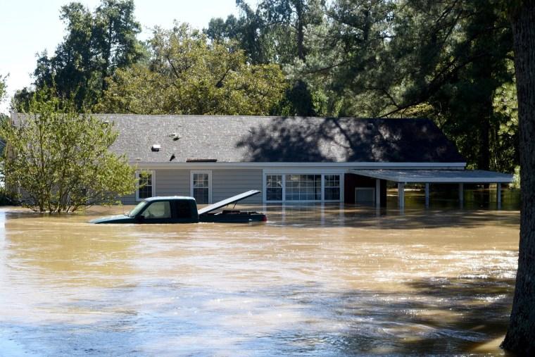Image: Hurricane Matthew flooding aftermath in Fayetteville, North Carolina, USA.