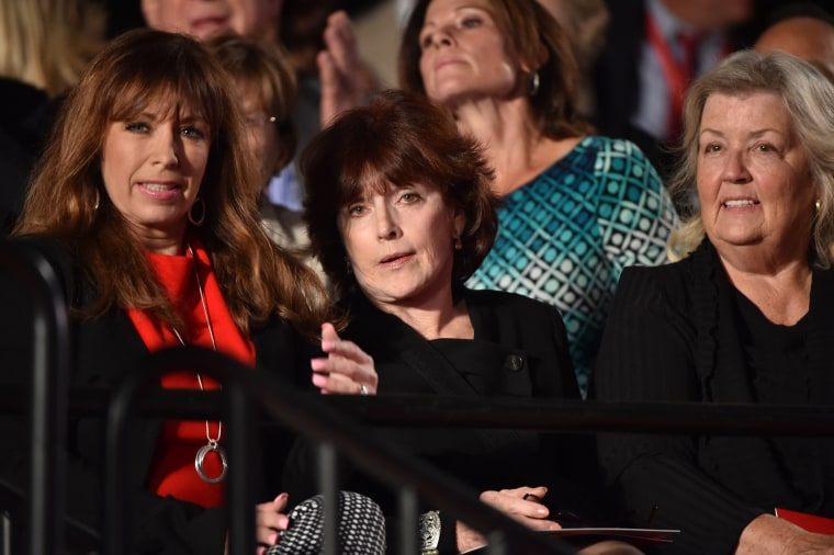 Image: Paula Jones (L), Kathleen Willey (C) and Juanita Broaddrick (R) eventually sat in the audience for Sunday night's second presidential debate.