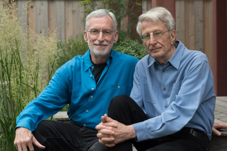 Michael McConnell (left), and his husband, Jack.