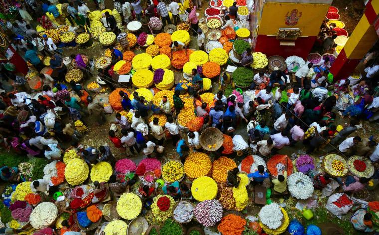 Image: Durga Puja festival preparation in India