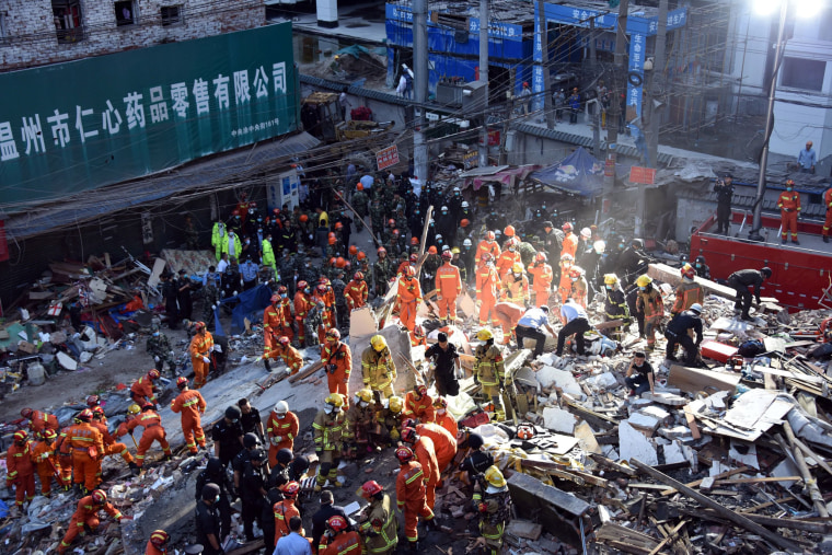 Image: TOPSHOT-CHINA-ACCIDENT-CONSTRUCTION