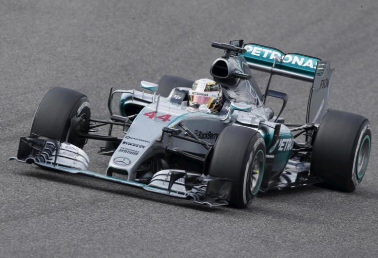 Mercedes Formula One Driver Lewis Hamilton Of Britain Drives During The Anese F1 Grand Prix At