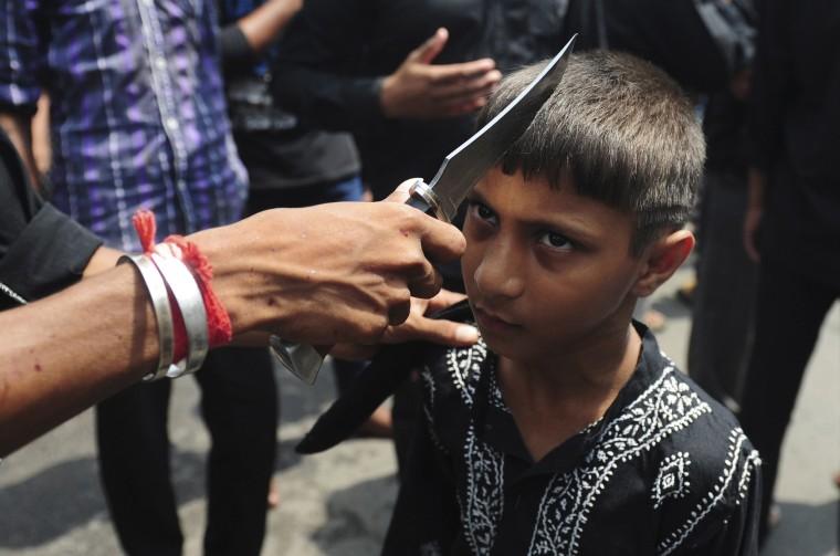 Image: TOPSHOT-INDIA-RELIGION-ISLAM-ASHURA