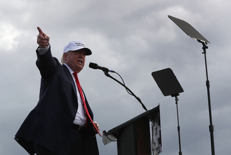 Image: GOP Presidential Nominee Donald Trump Campaigns In Battleground State Of Florida