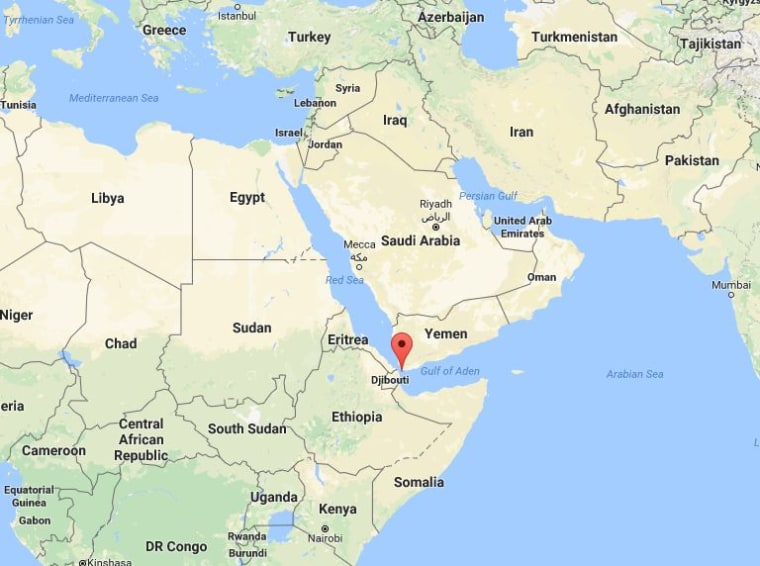 Image: Map showing Bab el-Mandeb Strait