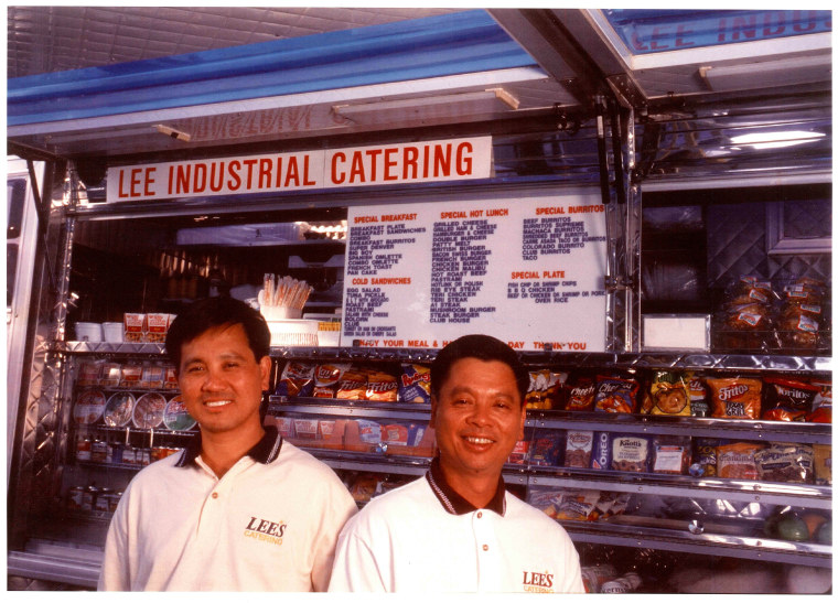 Chieu Le and Henry Le at their food truck, San Jose, Calif.