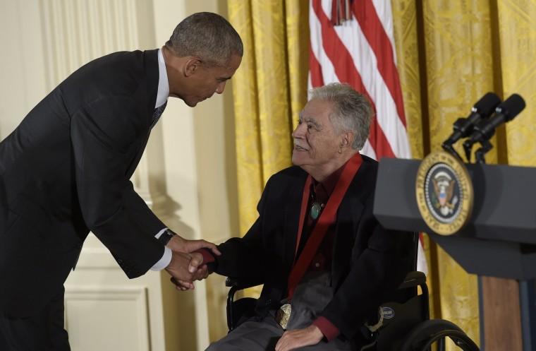 Image: Barack Obama, Rudolfo Anaya