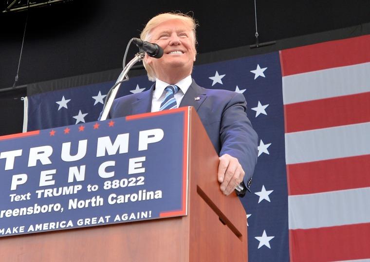 Image: Donald Trump Campaigns In Greensboro, North Carolina