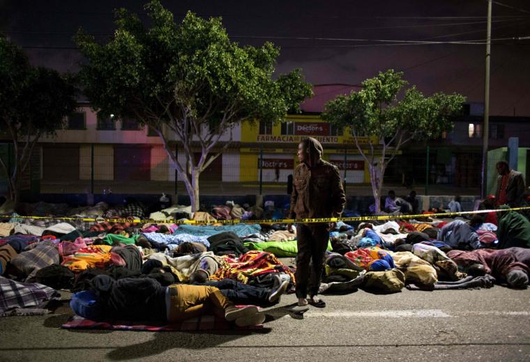 Image: TOPSHOT-MEXICO-US-HAITI-AFRICA-MIGRATION
