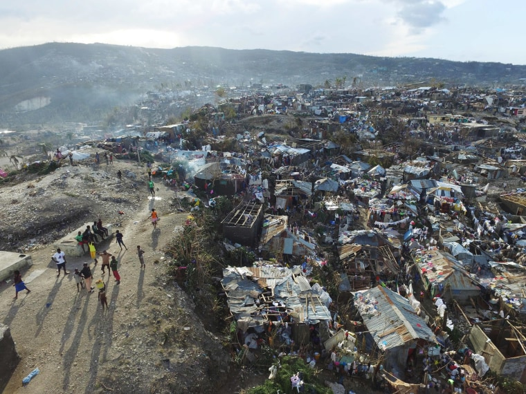 Image: Homes destroyed and damaged by Hurricane Matthew in Haiti