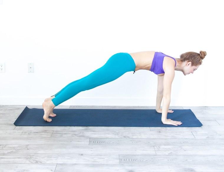 High plank pose