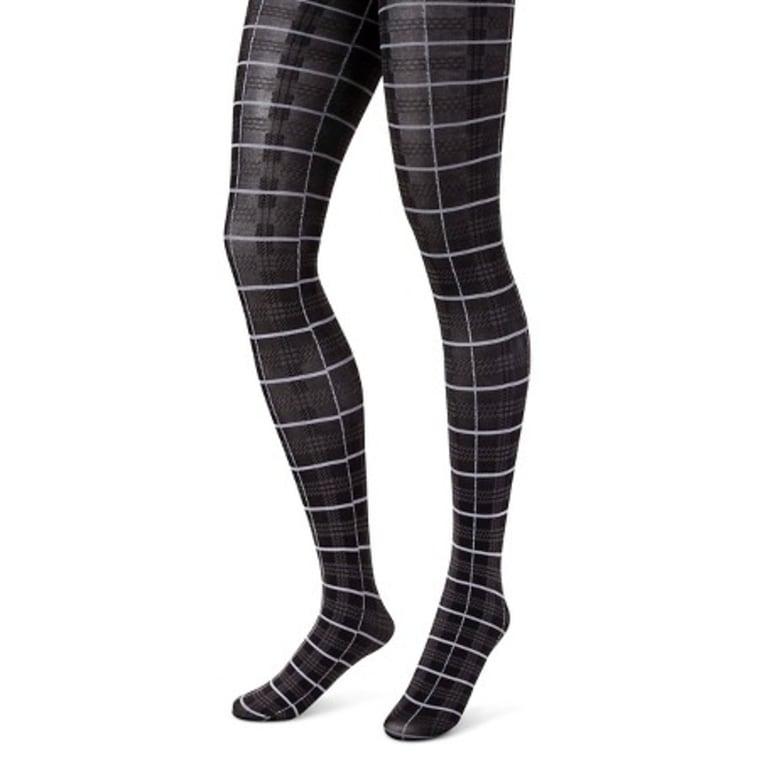 Plaid tights