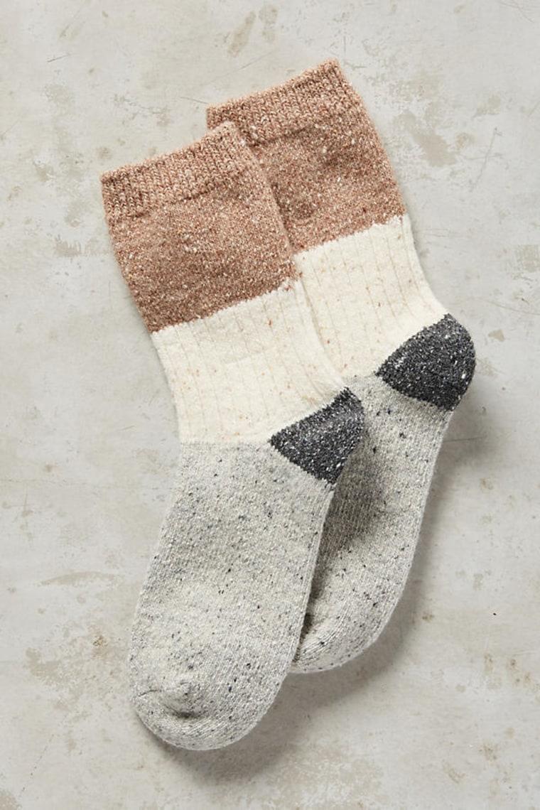 Color blocked socks