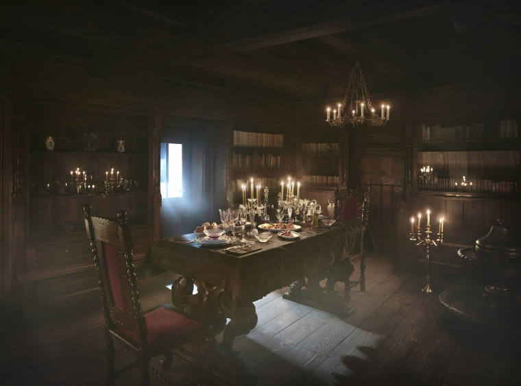 Dracula's castle dining room