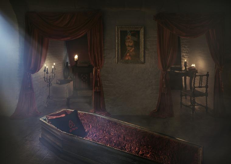 Dracula's castle crypt