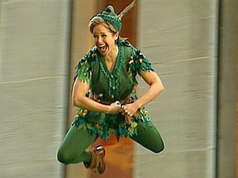 Katie Couric as Peter Pan