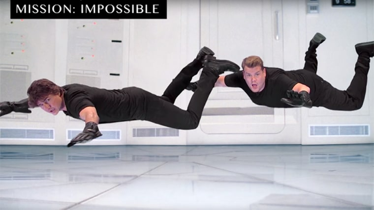 """Tom Cruise Acts Out His Film Career with James Corden - """"Mission Impossible"""""""