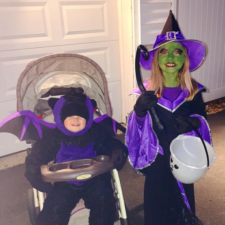 Bat and Witch Halloween Costume