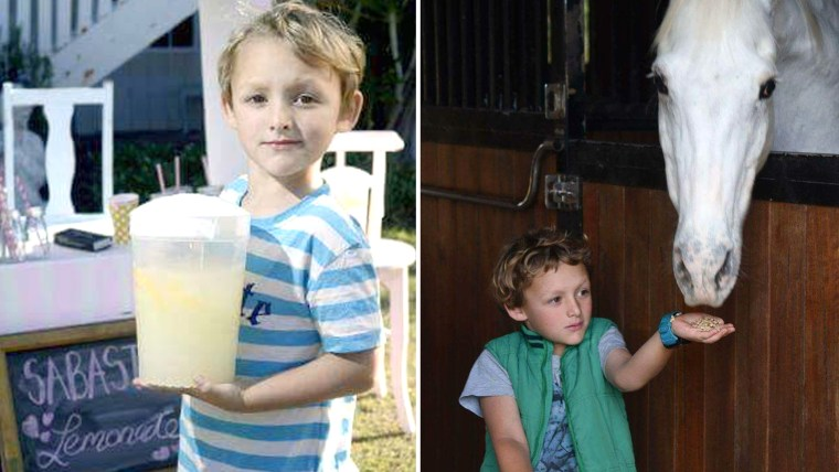 Sabastian Lucas, worked a lemonade stand for two years and saved $3000 to buy a pony