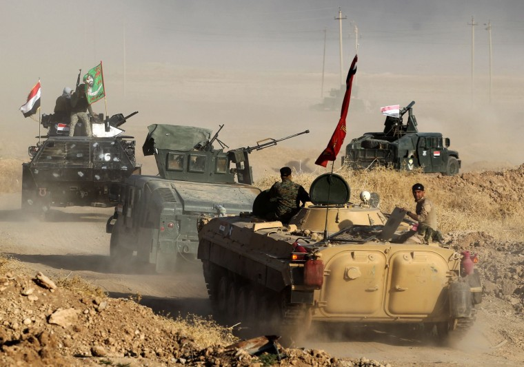 Image: Iraqi forces deploy in the area of al-Shourah