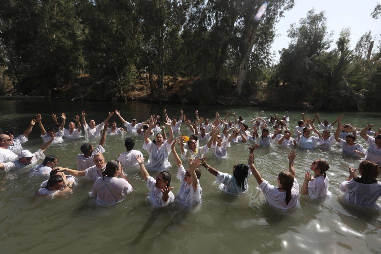 Image: TOPSHOT-ISRAEL-BRAZIL-RELIGION-CHRISTIANITY