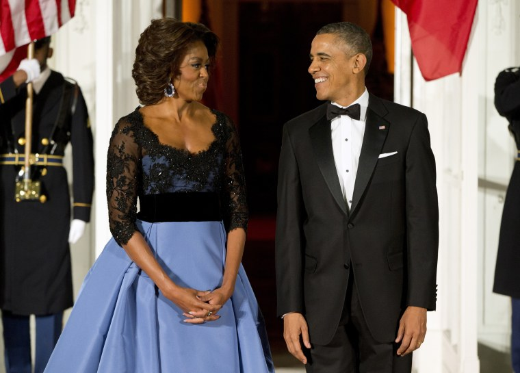 Image: Barack Obama, Fran?ois Hollande, Michelle Obama