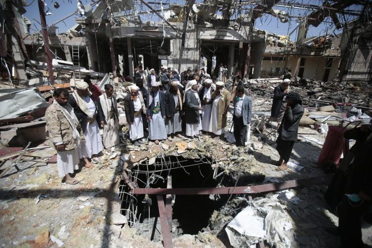 IMAGE: Yemen funeral attack